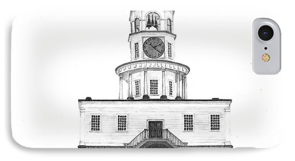 Halifax Town Clock IPhone Case by Patricia Hiltz