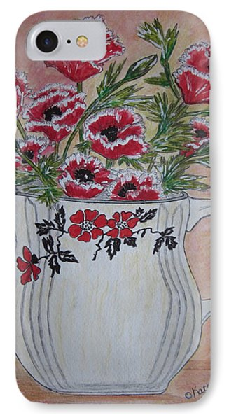 Hall China Red Poppy And Poppies Phone Case by Kathy Marrs Chandler