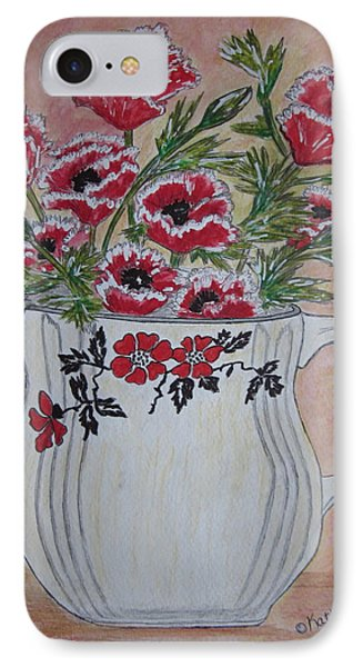 Hall China Red Poppy And Poppies IPhone Case