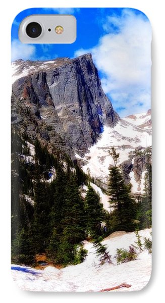 Hallett Peak Rocky Mountain National Park IPhone Case by Dan Sproul