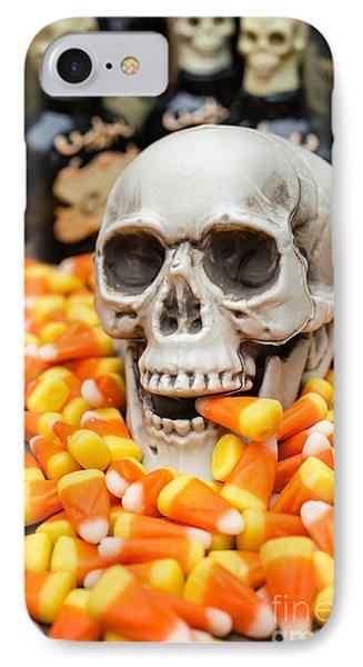 Halloween Candy Corn Phone Case by Edward Fielding
