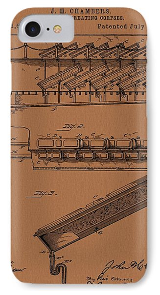 Halloween Coffins IPhone Case by Dan Sproul