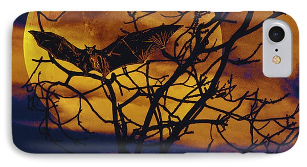 IPhone Case featuring the painting Halloween Full Moon Terror by David Mckinney