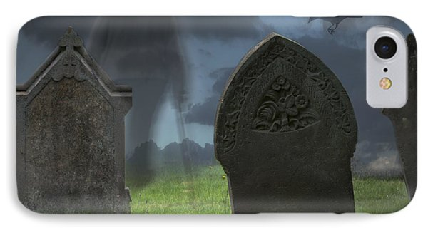 Halloween Graveyard IPhone Case by Amanda Elwell