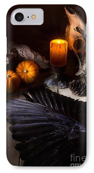 Halloween Is Coming IPhone Case by Ann Garrett