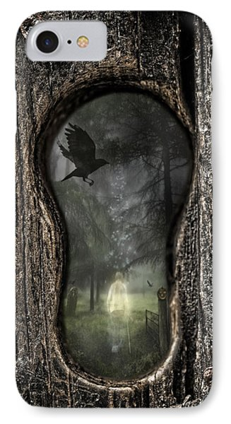 Halloween Keyhole IPhone Case by Amanda Elwell