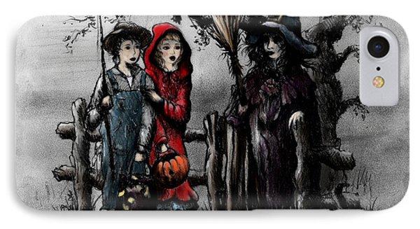 Halloween Night Phone Case by Rachel Christine Nowicki