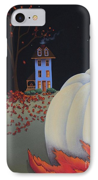 Halloween On Pumpkin Hill IPhone Case by Catherine Holman