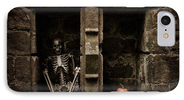 Halloween Skeleton IPhone Case by Amanda Elwell