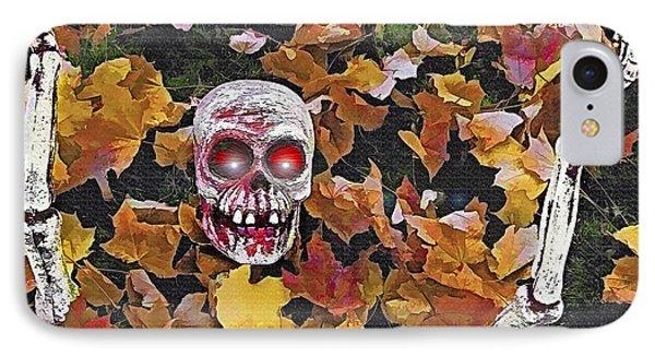 Halloween Skeleton Phone Case by Steve Ohlsen