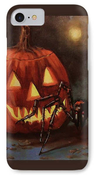 Halloween Spider Phone Case by Tom Shropshire