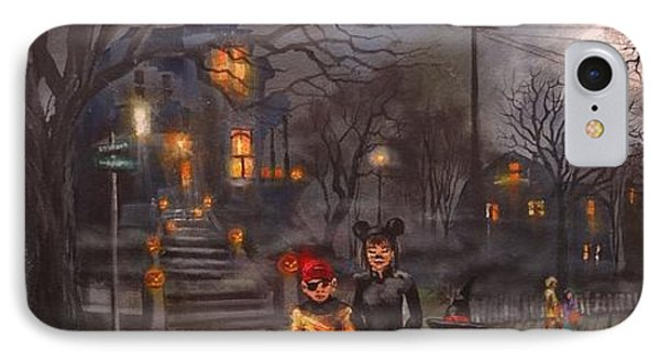 Halloween Trick Or Treat Phone Case by Tom Shropshire