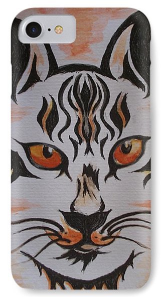 IPhone Case featuring the painting Halloween Wild Cat by Teresa White