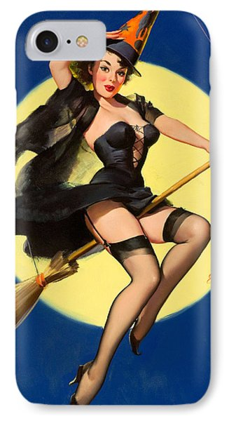 Halloween Witch Pinup Girl IPhone Case