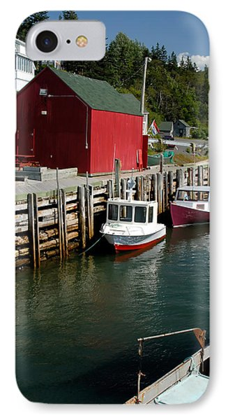 Halls Harbour Fishing Cove Phone Case by Norman Pogson