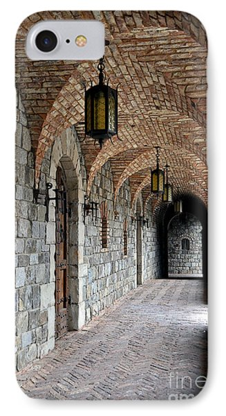 IPhone Case featuring the photograph Halls Of Castello Di Amorosa by Gina Savage