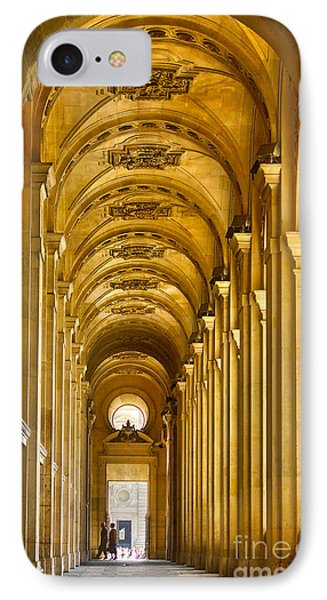 Hallway At The Louvre In Paris IPhone Case by Cynthia Lagoudakis