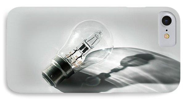 Halogen Energy Saving Light IPhone Case by Robert Brook