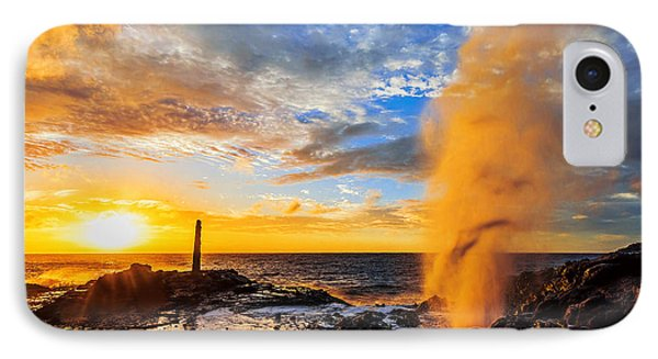 IPhone Case featuring the photograph Halona Blowhole At Sunrise by Aloha Art