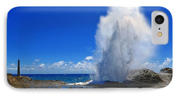 IPhone Case featuring the photograph Halona Blowhole Exploding Geyser by Aloha Art