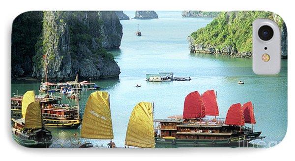 Halong Bay Sails 01 Phone Case by Rick Piper Photography