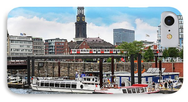 Hamburg, Germany, Tour Boats Docked IPhone Case by Miva Stock