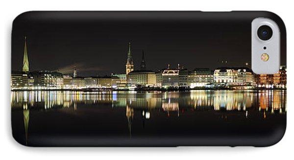 Hamburg Skyline At Night IPhone Case