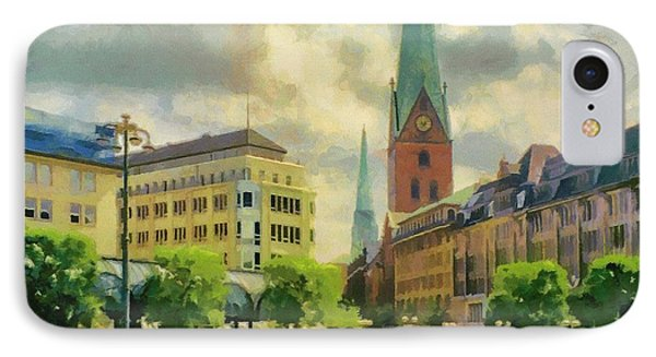 Hamburg Street Scene Phone Case by Jeffrey Kolker
