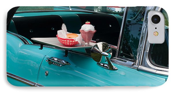 IPhone Case featuring the photograph Hamburger Drive In Classic Car by Gunter Nezhoda