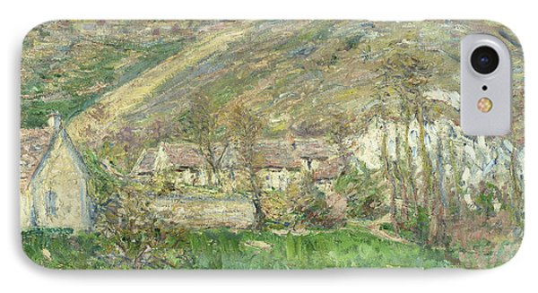 Hamlet In The Cliffs Near Giverny IPhone Case by Claude Monet