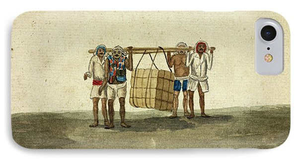 Hammals Carrying A Bale Of Cotton IPhone Case by British Library
