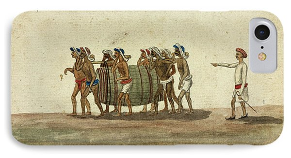 Hammals Carrying A Cask Of Liquor IPhone Case by British Library