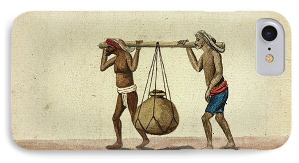 Hammals Carrying Oil Or Ghee IPhone Case by British Library