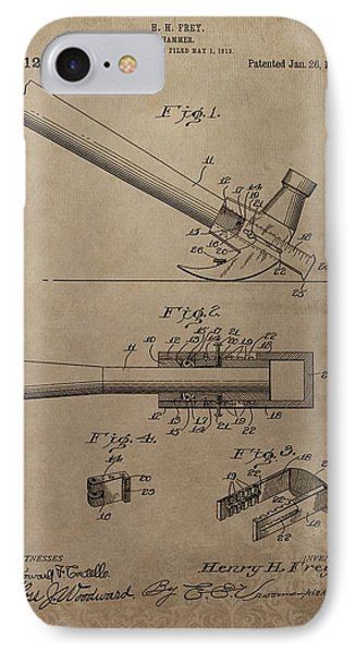 Hammer Patent Drawing IPhone Case