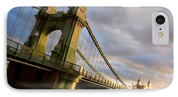 IPhone Case featuring the photograph Hammersmith Bridge In London by Peta Thames