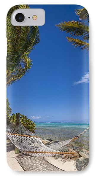 Hammock On The Beach British Virgin Islands IPhone Case by Adam Romanowicz