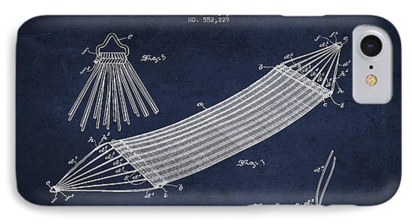 Hammock Patent Drawing From 1895 IPhone Case by Aged Pixel