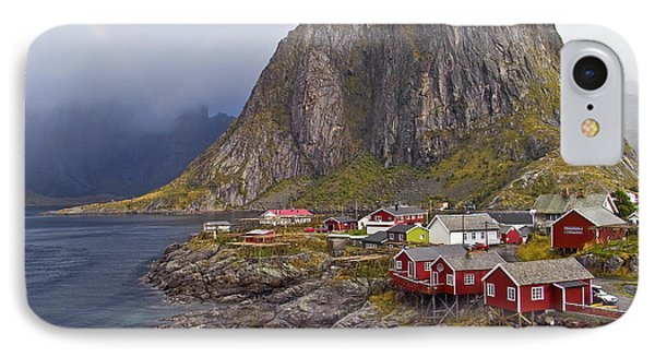 Hamnoy Rorbu Village IPhone Case by Heiko Koehrer-Wagner