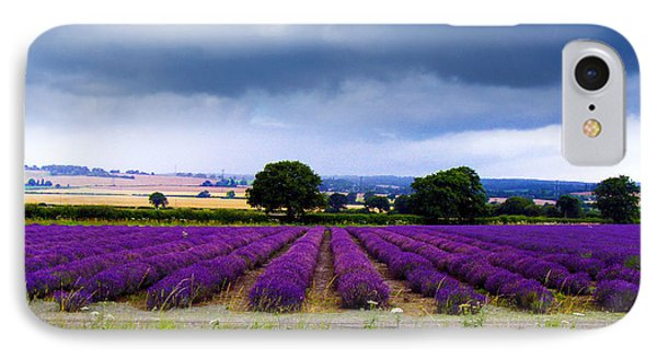 Hampshire Lavender Field Phone Case by Terri Waters