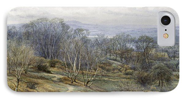 Hampstead Heath Looking Towards Harrow On The Hill IPhone Case by Edith Martineau