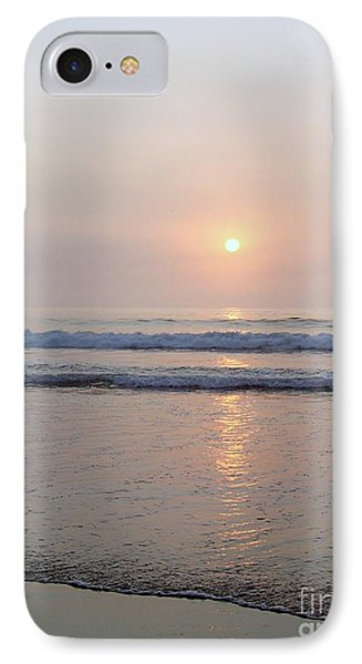 Hampton Beach Waves And Sunrise Phone Case by Eunice Miller