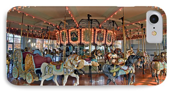 Hampton Carousel 2 IPhone Case by Jerry Gammon