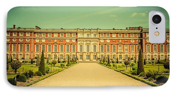 Hampton Court Palace Gardens As Seen From The Knot Garden IPhone Case by Lenny Carter