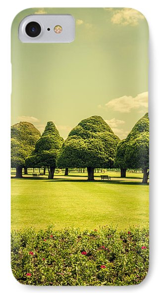 Hampton Court Palace Gardens Summer Colours IPhone Case by Lenny Carter