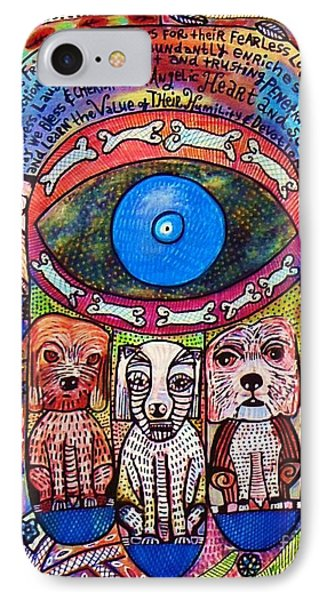 Hamsa Dog Blessing' IPhone Case