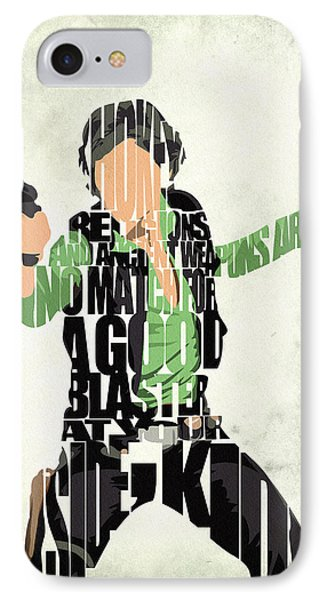 Han Solo From Star Wars IPhone Case by Ayse Deniz