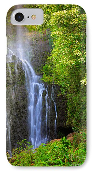 Hana Waterfall IPhone Case by Inge Johnsson