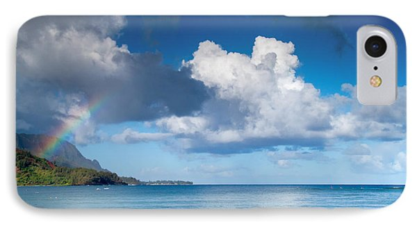 Hanalei Bay And Rainbow IPhone Case by Roger Mullenhour