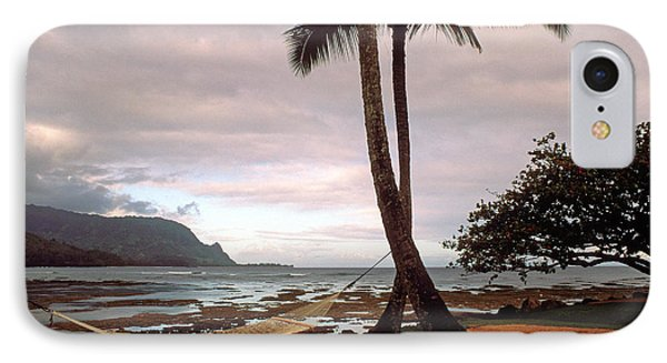 Hanalei Bay Hammock At Dawn Phone Case by Kathy Yates