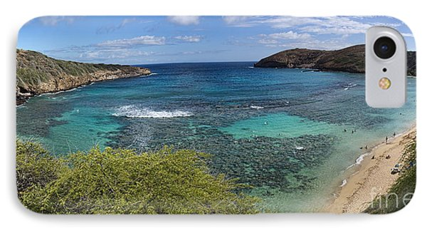 Hanauma Bay Panorama IPhone Case by David Smith